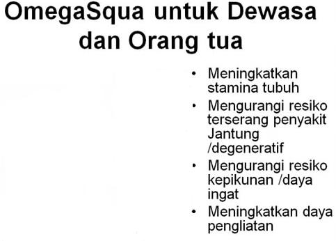 Minyak Ikan Omega Squa Untuk Dewasa dan Orangtua - Menjaga Stamina Daya Tahan Tubuh Yogyakarta- Natural OMEGA Squa