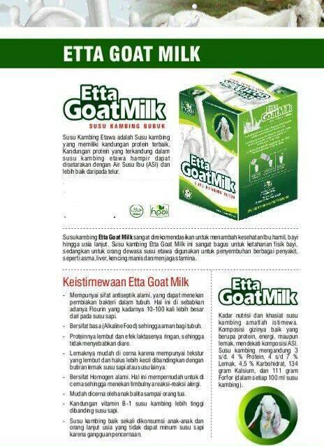susu kambing etawa goat milk hpai- 0856.9637.0861 ...